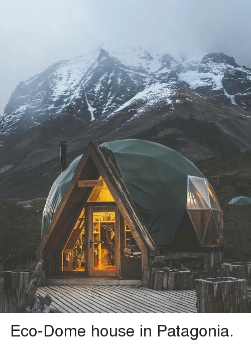 patagonia: <p>Eco-Dome house in Patagonia.</p>