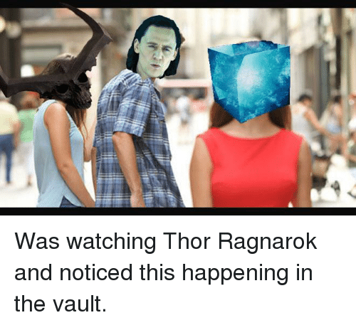 the vault: <p>Was watching Thor Ragnarok and noticed this happening in the vault.</p>