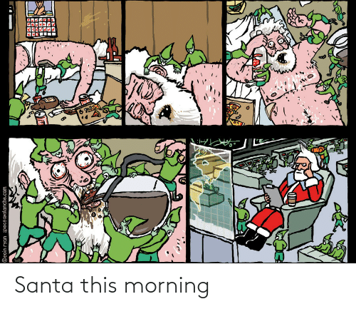 this morning: ©eoin ryan spaceavalanche.com  ం Santa this morning
