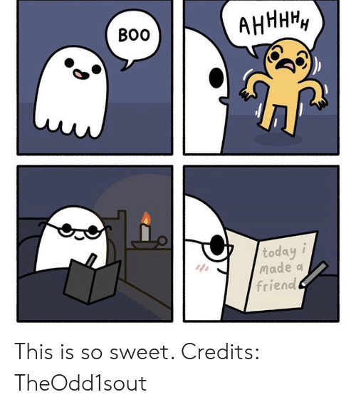 Credits: АНННН,  Во  today i  Made a  friend This is so sweet. Credits: TheOdd1sout