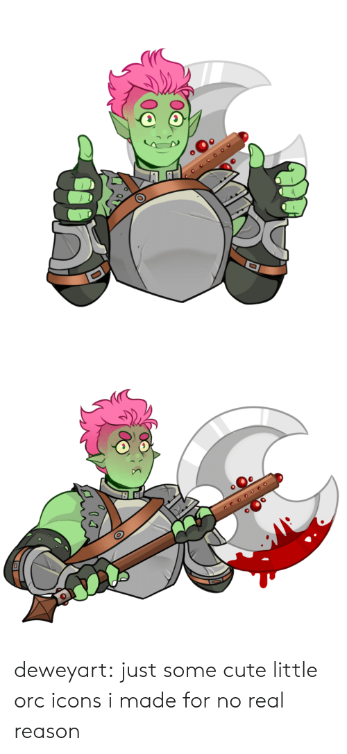 Cute Little: оео deweyart:  just some cute little orc icons i made for no real reason