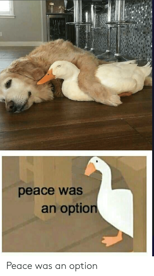 Peace, Option, and Was: рeace was  an option Peace was an option