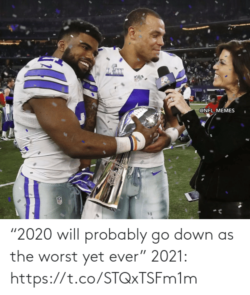 "NFL: ""2020 will probably go down as the worst yet ever""  2021: https://t.co/STQxTSFm1m"