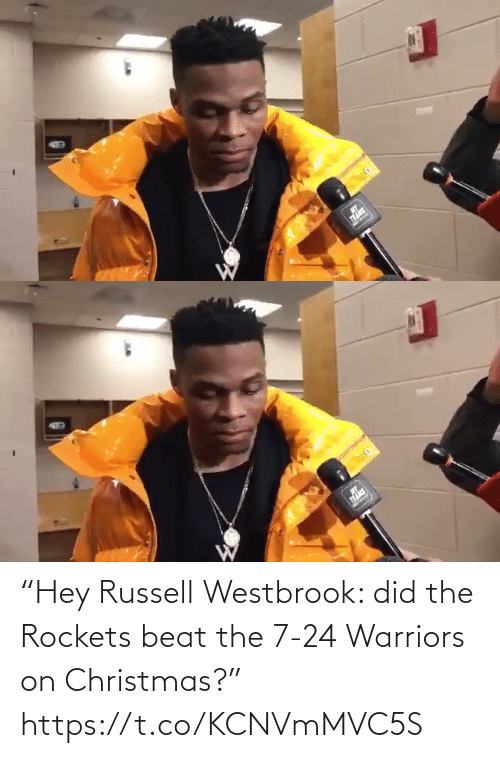 "Warriors: ""Hey Russell Westbrook: did the Rockets beat the 7-24 Warriors on Christmas?"" https://t.co/KCNVmMVC5S"