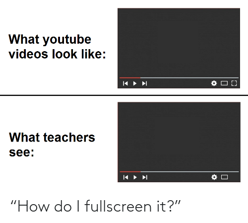 "Do I: ""How do I fullscreen it?"""
