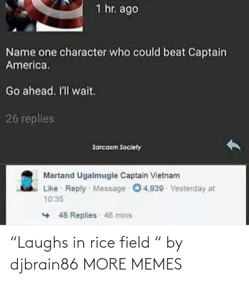 """field: """"Laughs in rice field """" by djbrain86 MORE MEMES"""