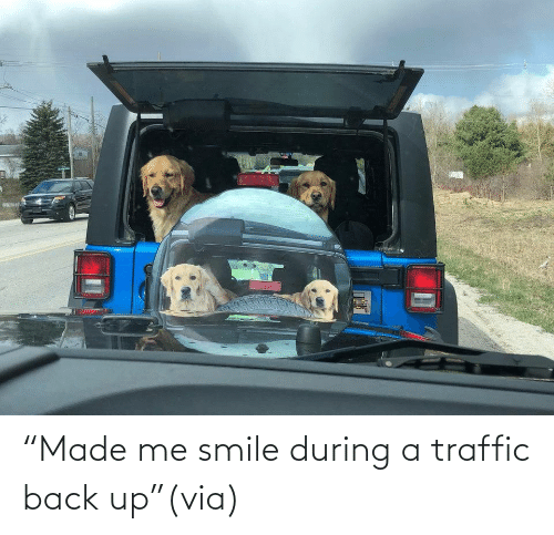 """Traffic: """"Made me smile during a traffic back up""""(via)"""