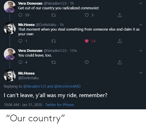 """country: """"Our country"""""""