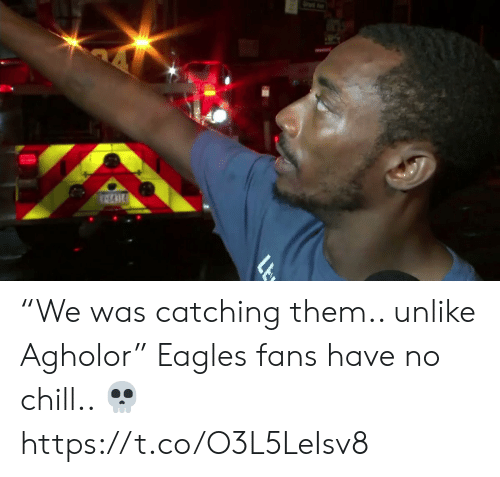 "Catching: ""We was catching them.. unlike Agholor""   Eagles fans have no chill.. ?  https://t.co/O3L5LeIsv8"