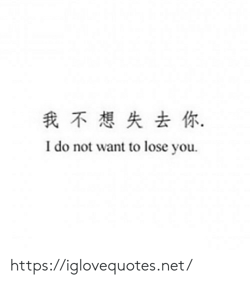 do-not-want: 我不想失去你,  I do not want to lose you https://iglovequotes.net/