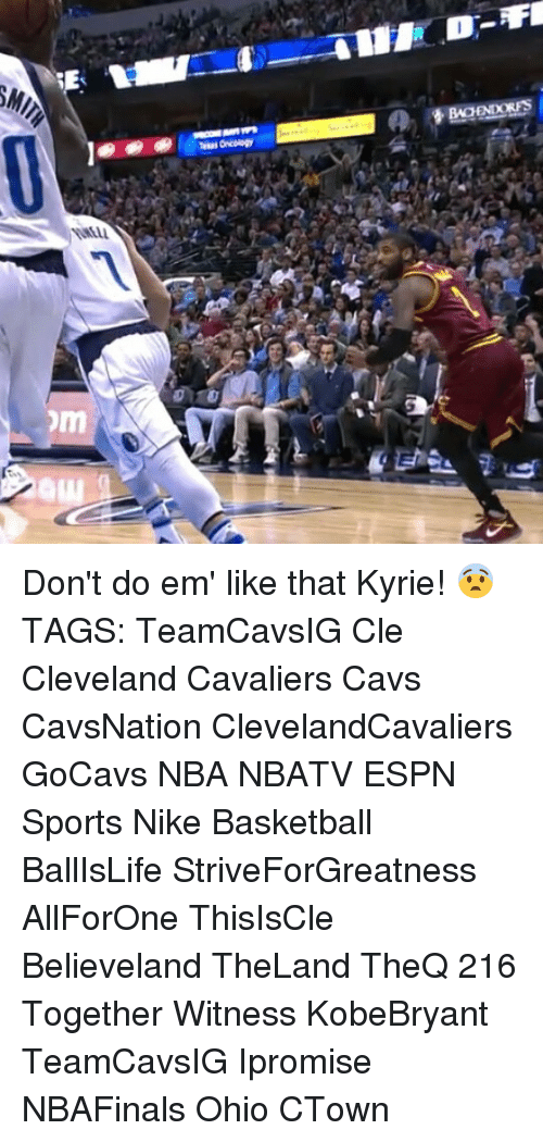 Cavs, Cleveland Cavaliers, and Espn: 록 MILTーーー4---AIIF.D-FI  國!:@ie l II 11-m e ) Deerxers    Mus acology  m Don't do em' like that Kyrie! 😨 TAGS: TeamCavsIG Cle Cleveland Cavaliers Cavs CavsNation ClevelandCavaliers GoCavs NBA NBATV ESPN Sports Nike Basketball BallIsLife StriveForGreatness AllForOne ThisIsCle Believeland TheLand TheQ 216 Together Witness KobeBryant TeamCavsIG Ipromise NBAFinals Ohio CTown