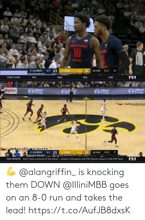 8 0: 💪 @alangriffin_ is knocking them DOWN  @IlliniMBB goes on an 8-0 run and takes the lead! https://t.co/AufJB8dxsK