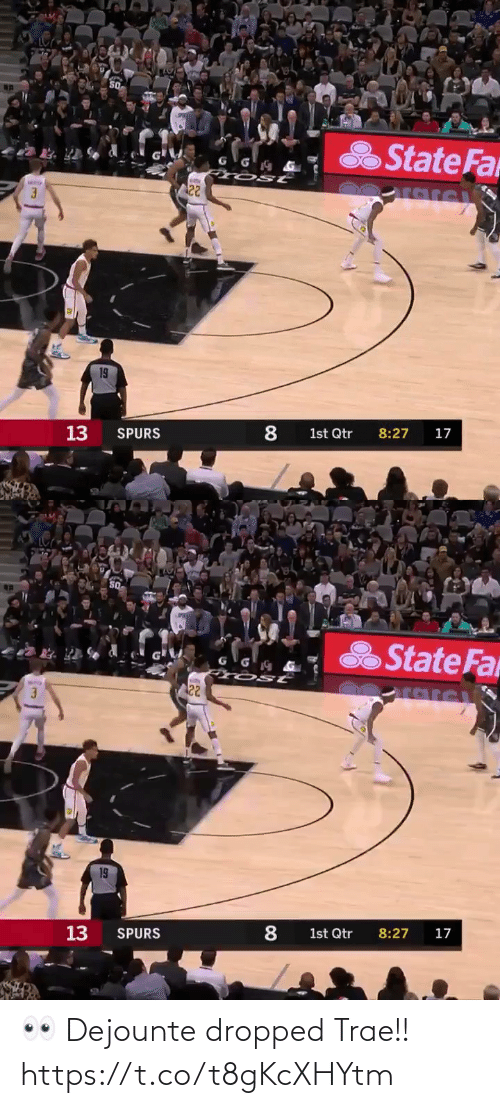 Dropped: 👀 Dejounte dropped Trae!! https://t.co/t8gKcXHYtm