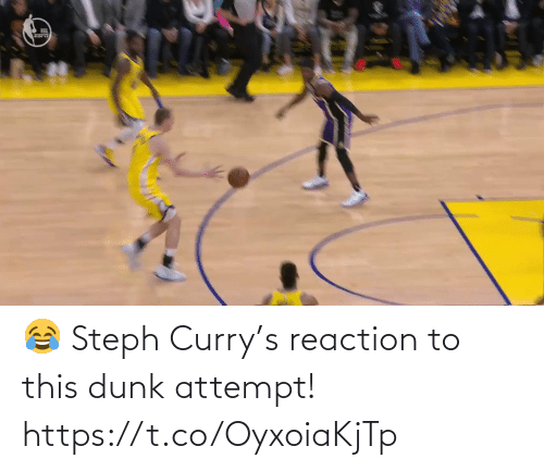 Dunk: 😂 Steph Curry's reaction to this dunk attempt!  https://t.co/OyxoiaKjTp