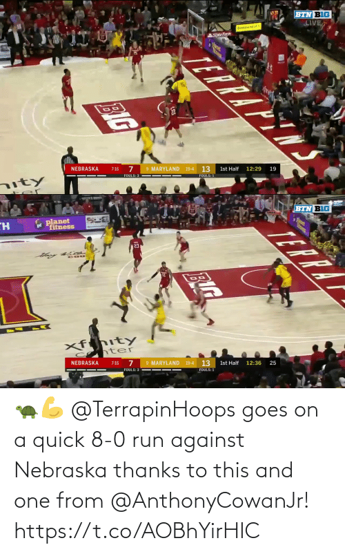 8 0: 🐢💪 @TerrapinHoops goes on a quick 8-0 run against Nebraska thanks to this and one from @AnthonyCowanJr! https://t.co/AOBhYirHIC