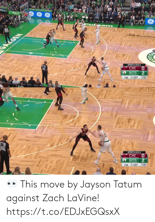 Zach: 👀 This move by Jayson Tatum against Zach LaVine!   https://t.co/EDJxEGQsxX