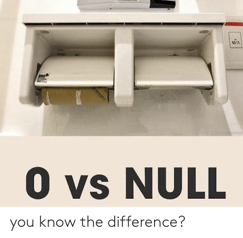 Null, You, and  Know: 0 vs NULL you know the difference?