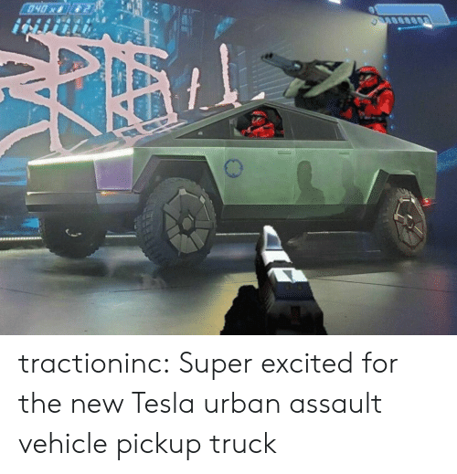 Tumblr, Blog, and Urban: 040x tractioninc:  Super excited for the new Tesla urban assault vehicle pickup truck