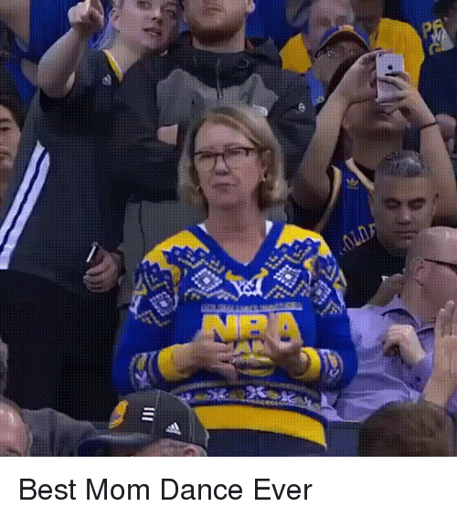 Warriors Game: .0LD Best Mom Dance Ever
