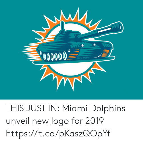 Football, Memes, and Nfl: 0O0000  @NFL MEMES THIS JUST IN: Miami Dolphins unveil new logo for 2019 https://t.co/pKaszQOpYf