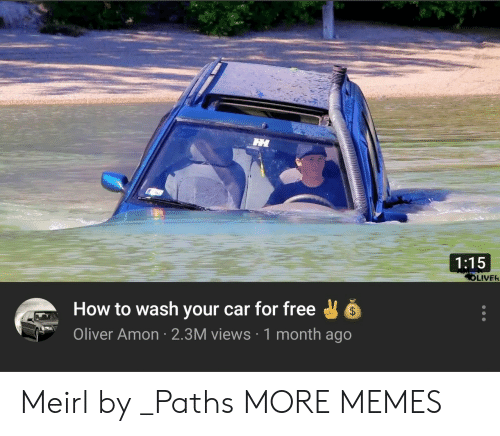Dank, Memes, and Target: 1:15  LIVER  How to wash your car for free  Oliver Amon 2.3M views 1 month ago Meirl by _Paths MORE MEMES