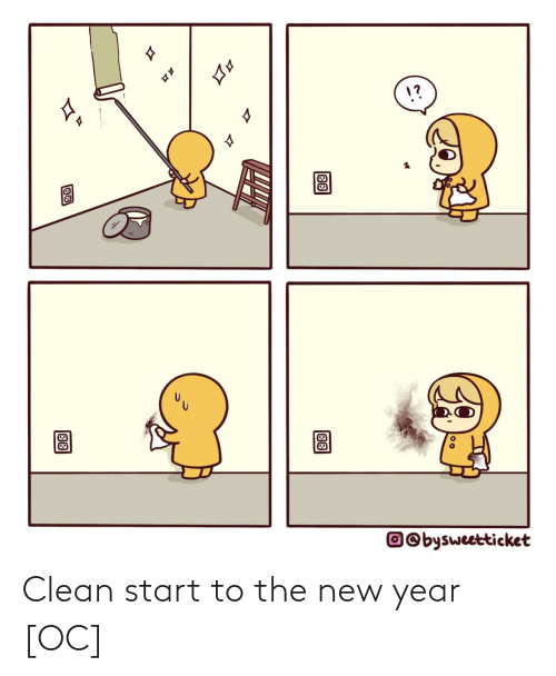 clean: 1?  17  O©bysweetticket  88  88 Clean start to the new year [OC]