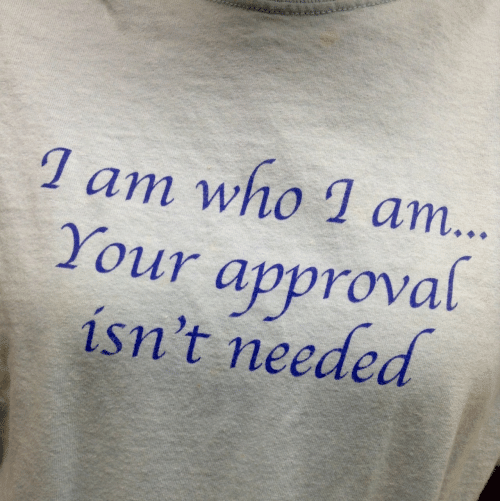 Who, Needed, and Approval: 1 am who 1 am...  Your approval  isn't needed