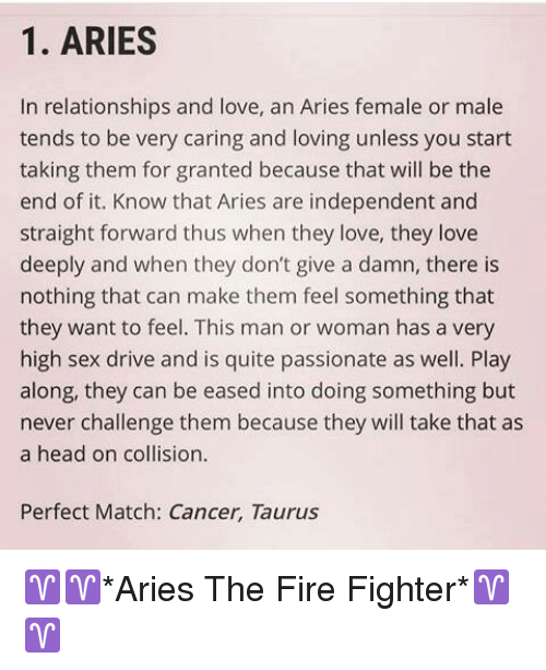 Taurus Perfect Match >> 1 Aries N Relationships And Love An Aries Female Or Male
