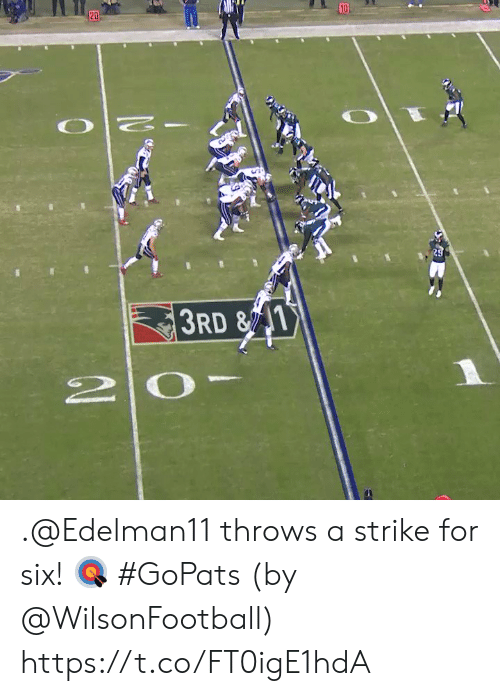 Throws: 10  20  29  3RD &1  2 0 .@Edelman11 throws a strike for six! 🎯 #GoPats  (by @WilsonFootball) https://t.co/FT0igE1hdA