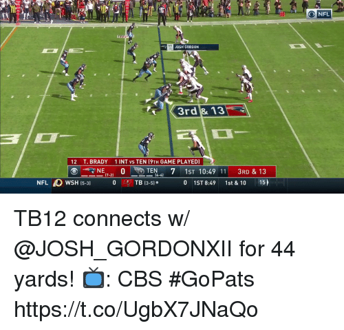 634952ad5 Memes, Cbs, and Game: 10 ONFL WR t0 JOSH GORDON 3rd & 13