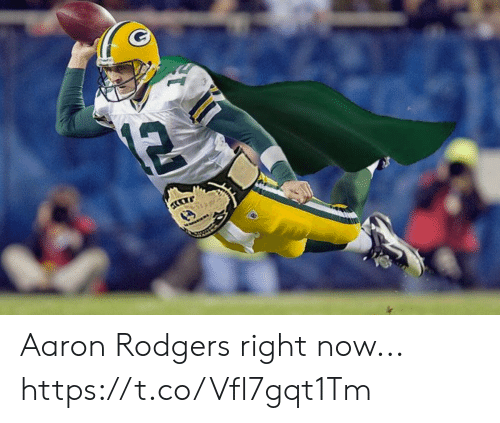 Aaron Rodgers, Football, and Nfl: 12 Aaron Rodgers right now... https://t.co/Vfl7gqt1Tm