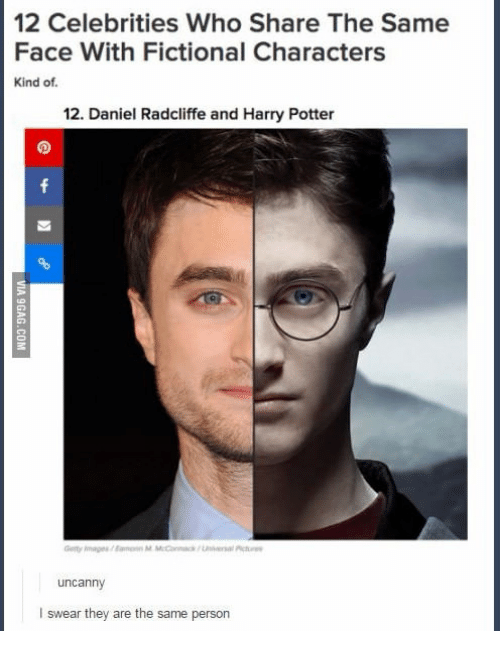 Does Hot Gl Look The Same As Cold Ti Daniel Radcliffe Harry Potter And Fictional 12 Celebrities Who Share Face With