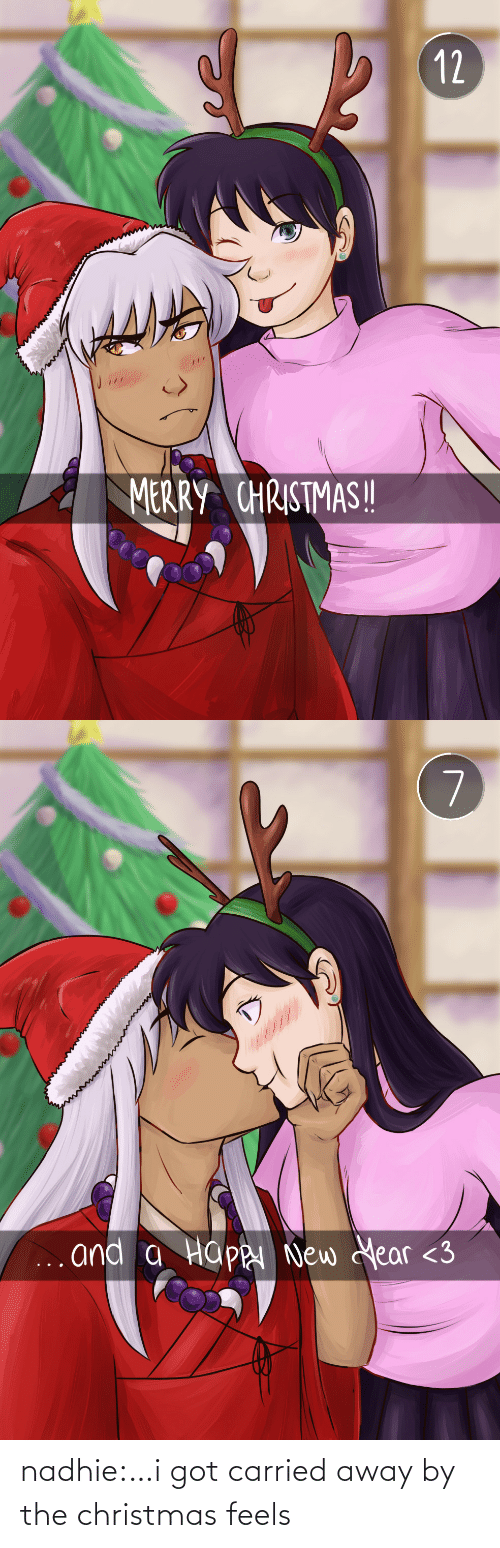 merry: 12  MERRY CHRISTMAS!   7  ... and a Happ New Year <3 nadhie:…i got carried away by the christmas feels