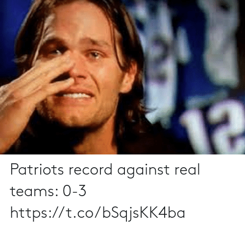 Football, Nfl, and Patriotic: 12 Patriots record against real teams: 0-3 https://t.co/bSqjsKK4ba