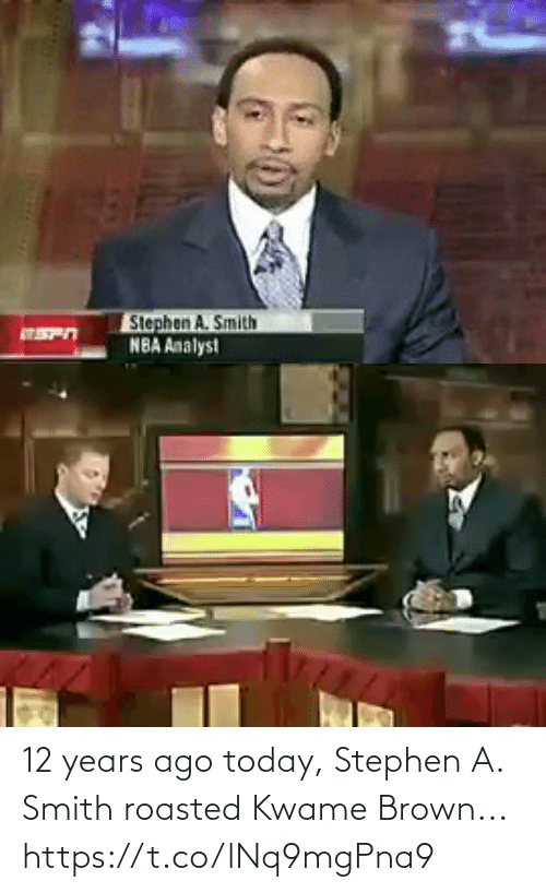 brown: 12 years ago today, Stephen A. Smith roasted Kwame Brown... https://t.co/lNq9mgPna9