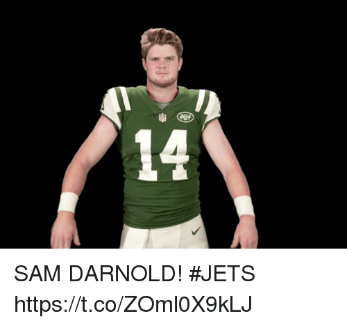 Memes, Jets, and 🤖: 14 SAM DARNOLD! #JETS https://t.co/ZOml0X9kLJ
