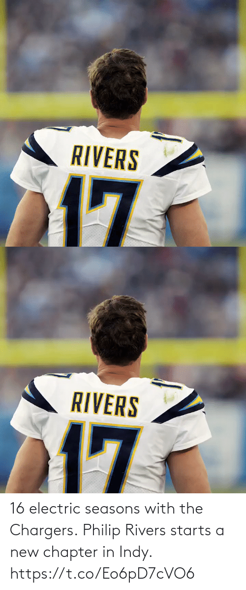 Seasons: 16 electric seasons with the Chargers.  Philip Rivers starts a new chapter in Indy. https://t.co/Eo6pD7cVO6