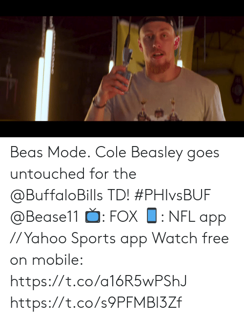 Beasley: 17  FOX NFL  TH  10  20  04  SRD&&UA  20  Current Drive  Plays 9 Yards 61 3:44  33  0  EAGLES  BILLS  2nd 14:54  04  3rd &Goal  3-4  5-1  SCORES  LAC Beas Mode.  Cole Beasley goes untouched for the @BuffaloBills TD! #PHIvsBUF @Bease11  📺: FOX 📱: NFL app // Yahoo Sports app Watch free on mobile: https://t.co/a16R5wPShJ https://t.co/s9PFMBl3Zf
