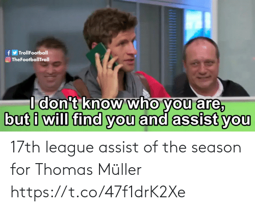 thomas muller: 17th league assist of the season for Thomas Müller https://t.co/47f1drK2Xe