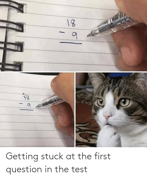 stuck: 18  111 Getting stuck at the first question in the test