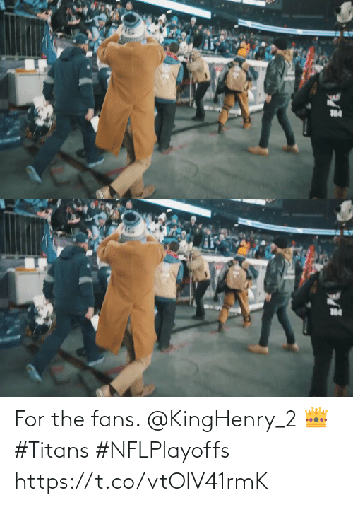 fans: 184   184 For the fans. @KingHenry_2 👑 #Titans #NFLPlayoffs https://t.co/vtOlV41rmK