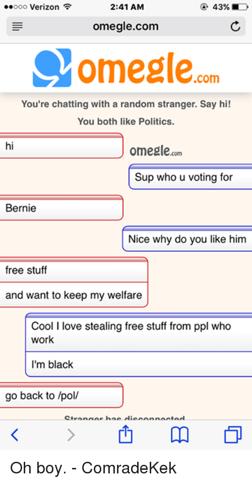 Omegle chat ust