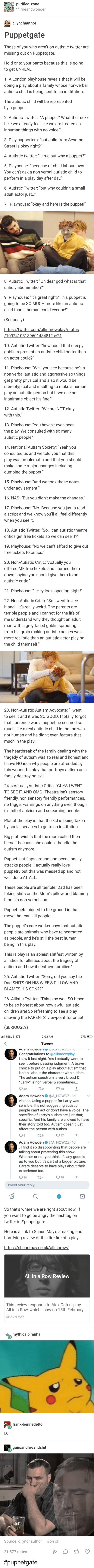 """God, Tumblr, and Fuck: 2 Autise Tvier: A puppet? What the fuck  Aisic Twier """"oh dear god what is he"""