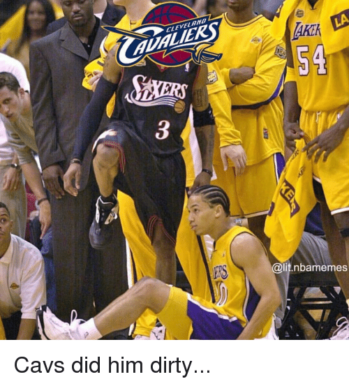 Cavs, Lit, and Nba: 2  CLEVEL AND  AUALIERS  AKE  Akik  54  ERS  @lit.nbamemes Cavs did him dirty...