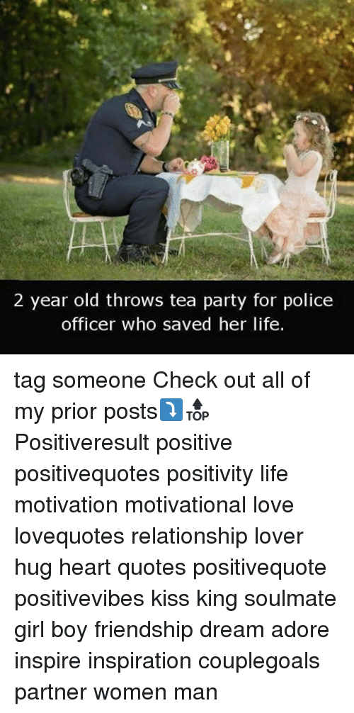 2 Year Old Throws Tea Party for Police Officer Who Saved Her ...