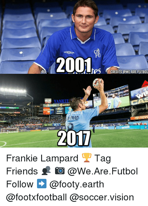 Franky: 2001res  CREDITS BWE ARE FUTBOL  YANKEE  GGATORA  America  OTOYO  2017 Frankie Lampard 🏆 Tag Friends 👥 📷 @We.Are.Futbol Follow ➡ @footy.earth @footxfootball @soccer.vision
