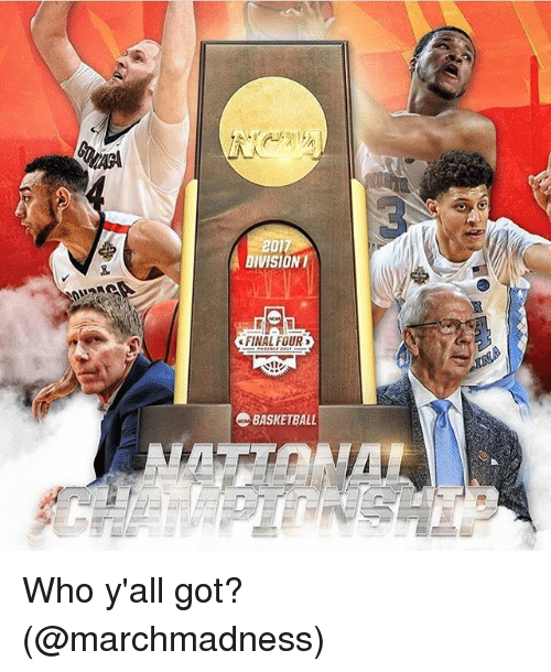 marchmadness: 201  IVISION  FINAL FOUR  BASKETBALL Who y'all got? (@marchmadness)