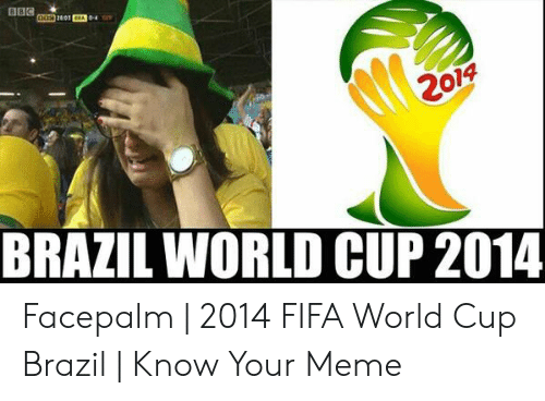 Brazil World Cup: 2014  BRAZIL WORLD CUP 2014 Facepalm   2014 FIFA World Cup Brazil   Know Your Meme