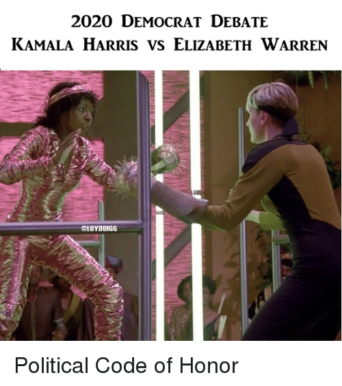 Elizabeth Warren, Star Trek, and Debate: 2020 DEMOCRAT DEBATE  KAMALA HARRIS VS ELIZABETH WARREN  LOYDDIGG