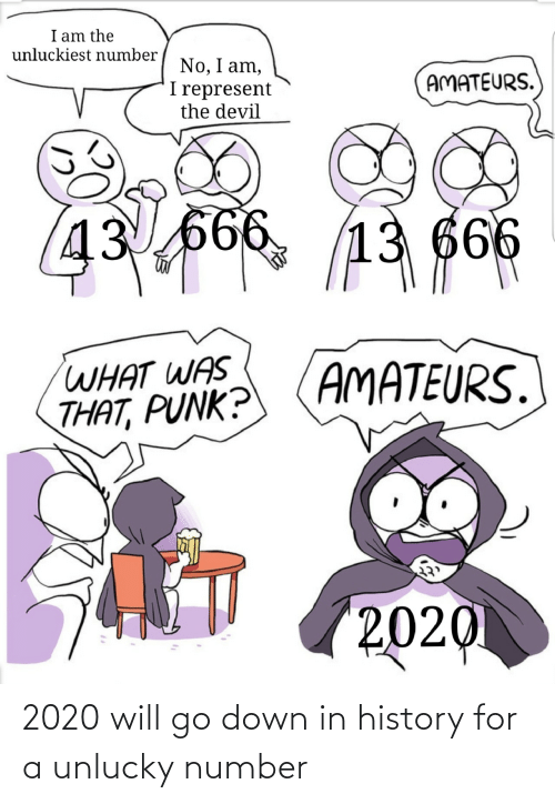 Number: 2020 will go down in history for a unlucky number